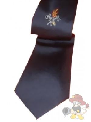 Feuerwehr Krawatte, Schlips blau mit Emblem