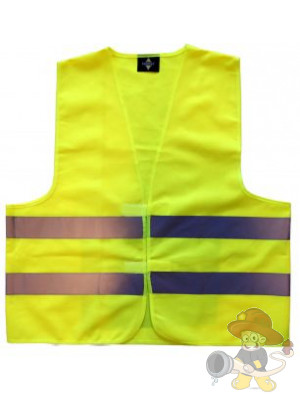 Funktionskennzeichnungsweste Gelb mit Handytasche