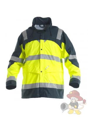 Einsatz Regenjacke nach EN 471 leuchtgelb/marine
