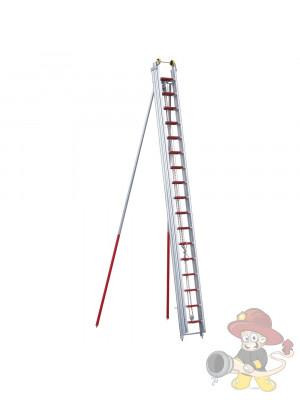 Feuerwehr-Schiebleiter DIN EN 1147, 3-teilig