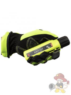 UK Helmlampe 4AA eLED Surefoot, Frontschalter, neongelb