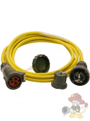 Starkstromleitung 3G2.5, 5 m lang, druckwasserdichte Stecker & CEE-Kupplung