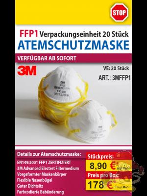 3M Feinstaubmaske FFP1 3M8710 E (20 Stück)