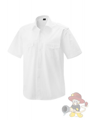 Feuerwehr Pilothemd Premium Kurzarm weiß - Gr. 45/46
