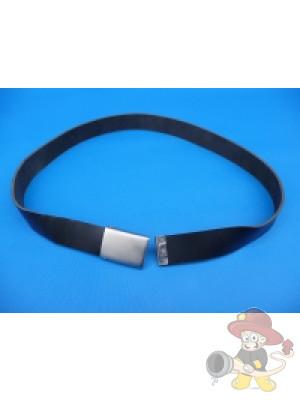 Lederkoppel, schwarz durchgefärbt, 32 mm breit