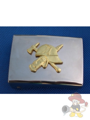 Koppelschloss, glatt, mit goldener Auflage