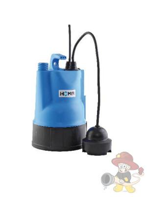 Flachsauger Pumpe mit Sensorschalter zur Überflutungssicherung