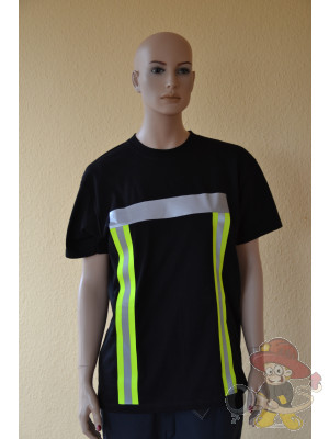 Feuerwehr T-Shirt mit Warnschutz nach EN 471 Größe L