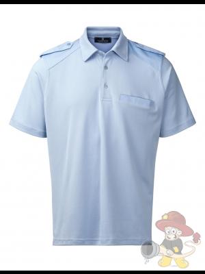 Nato Polohemd mit Schulterschlaufen blau