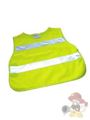 Kinder Warnschutzponcho gelb