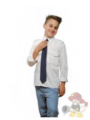 Weiße Kinder-Pilotenhemden, langarm