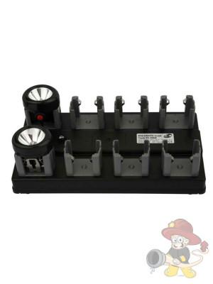 Ladebox mit kabelosem M-System Ladeschalen für 8 Helmlampen
