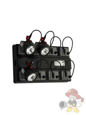 Ladebox mit 8 Standard-Ladeplätzen für Helmlampen
