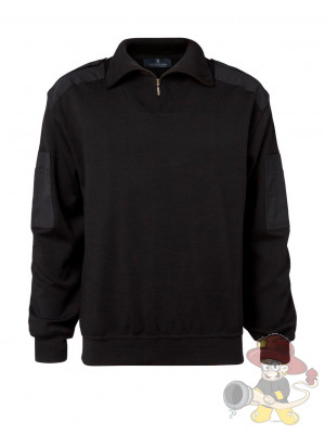 Nato Troyer Zip-Neck schwarz