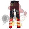 Rettungsdienst HOSE mit Stretch HiVis Klasse 1 Marineblau/Fluor-Rot