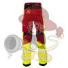 Rettungsdienst HOSE mit Stretch HiVis Klasse 1 Rot / Schwarz / Neon Gelb