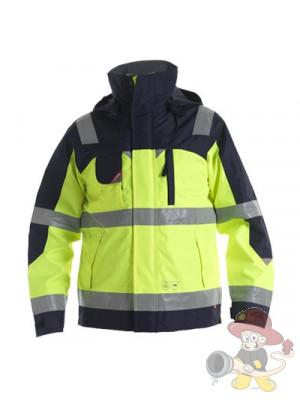 Einsatz Pilot-Shell-Jacke nach EN 471 leuchtgelb/marine