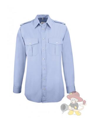 GREIFF Herren-Pilothemd Langarm Blau - Gr. 39/40