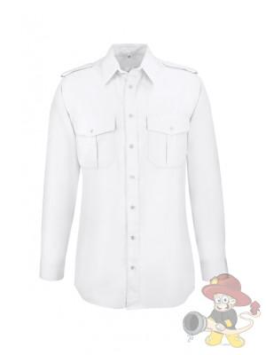 GREIFF Herren-Pilothemd Langarm Weiß - Gr. 43/44