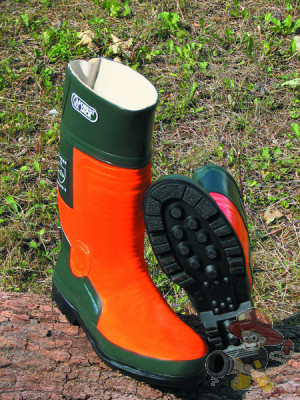 "Forstgummistiefel ""Forest-Jack"" orange/grün"
