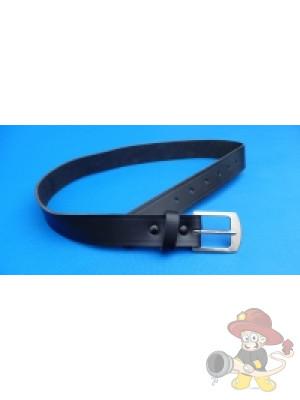 Ledergürtel, schwarz durchgefärbt, 30 mm breit