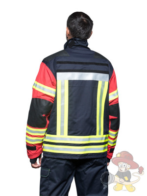 Brandschutzjacke THL und Waldbrand rot