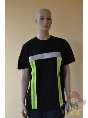 Feuerwehr T-Shirt mit Warnschutz nach EN 471 Größe M