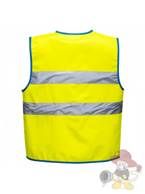 Farbige Kinder Warnweste Gelb