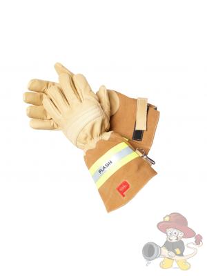 FLASH PREMIUMFeuerwehrhandschuh aus braunem Rindleder nach EN 659:2008
