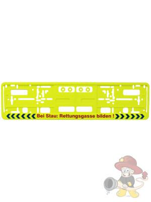 Kfz-Kennzeichenrahmen Rettungsgasse bilden
