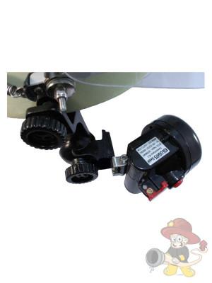 Seitlicher Lampenhalter für Feuerwehrhelme