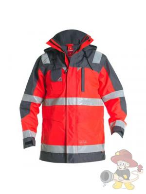 Einsatz Parka Shell-Jacke 2 nach EN 471 leuchtrot/grau