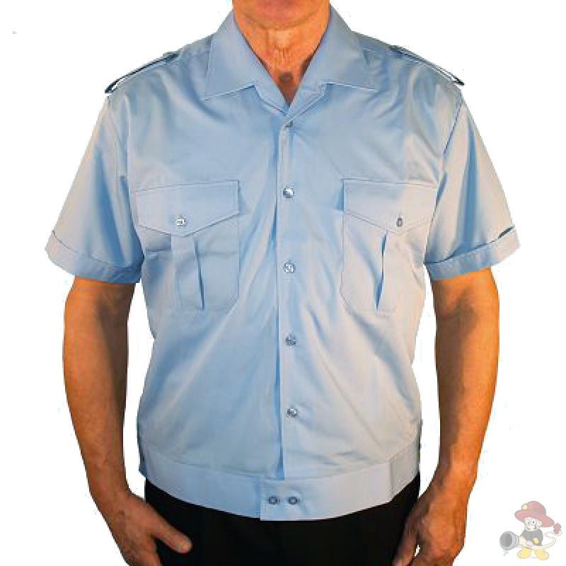 Mischgewebe Hemd hellblau 1//2 arm Feuerwehr Imperial